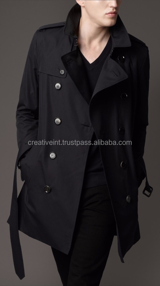 Best quality hot sell nylon waterproof long men coat/winter coat