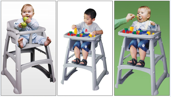 2017 wholesale baby furniture plastic chair KFC restaurant feeding baby high chair