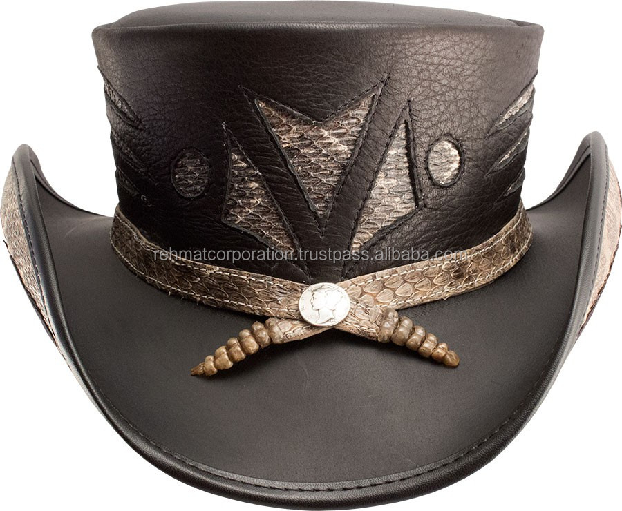 2016 Diamond back steampunk Top Hat for mens black color