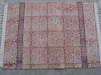 Indian cotton dhurrie rug / Hotel & Room Decorated Printed Rugs / Hand-Block Printed Rug