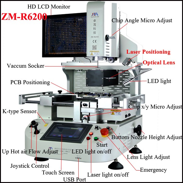 Automatic IR Pre-heater ZM R6200 rework station for lenovo hp acer asus BGA chip motherboard