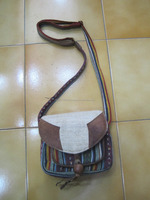 Leather/Cotton/Hemp Passport Bag