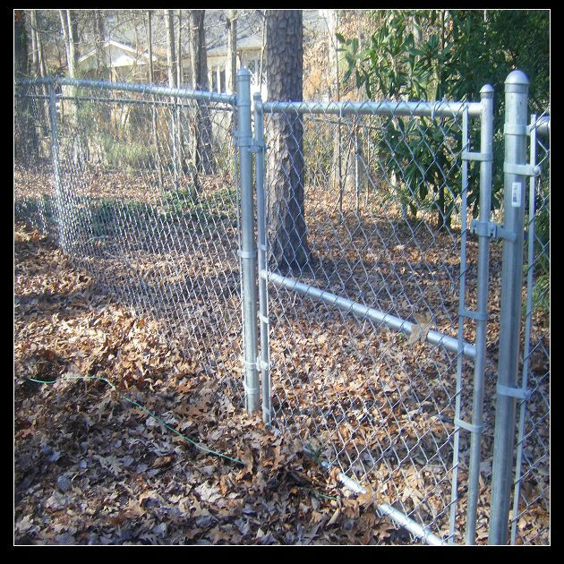 French Barrier Green Decorative Chain Link Fence With High Quality