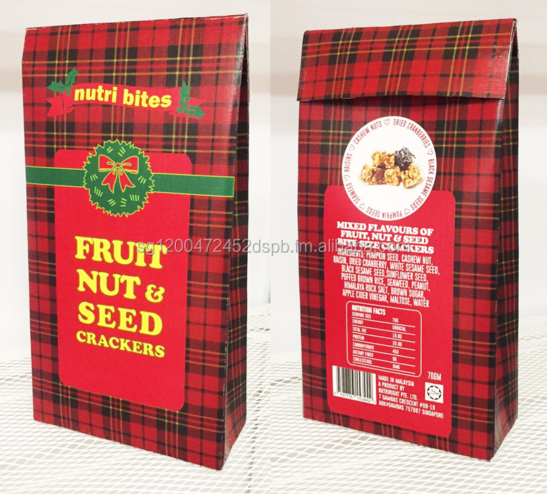 NutriBite - Fruit, Nut & Seed Crackers