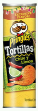 Pringles / Chile y Limon / Tortillas Crisps (Two - 6.42oz Cans) Snack Foods