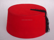 Black tassel 100% Australian wool tassel felt fez hat/Cheap Novelty Fancy Dress Party Costume Red Felt Fez Hats