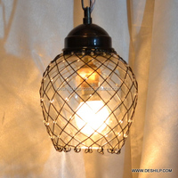 Modern Drum Pendant Light with White Hanging Glass in Finish Hanging