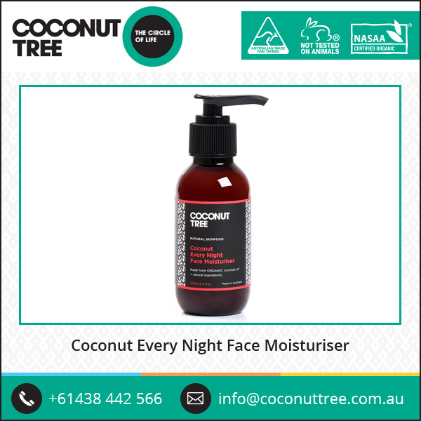 Coconut Every Night Face Moisturizer with Essential Fatty Acid and Vitamin E