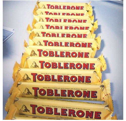 TOBLERONE 400G MILK CHOCOLATE, TOBLERONE 100G CHOCOLATE BARS