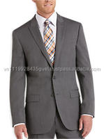 T_Latest design handsome slim fit tailor made high quality classic grey Custom suit for men