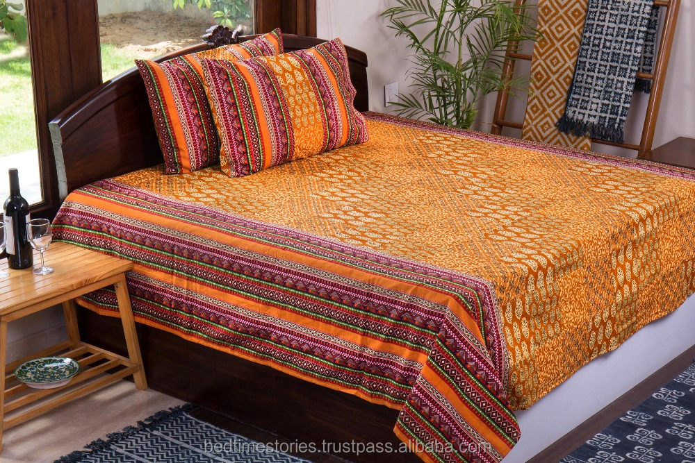 wholesale indian bedsheet 100% bedcover