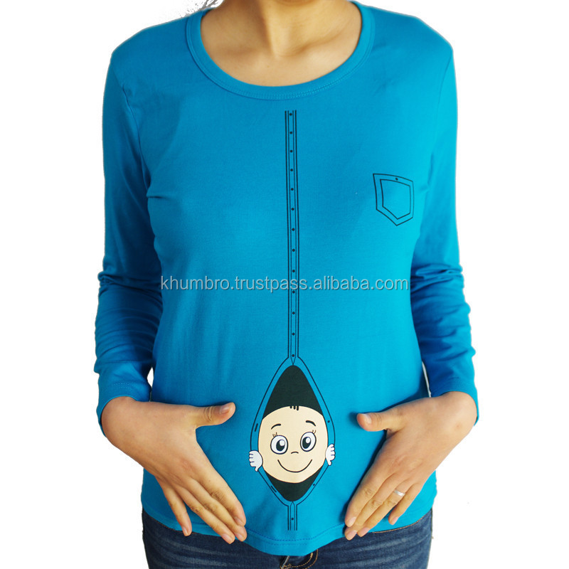 Fashionable design maternity t shirts pregnant women clothes