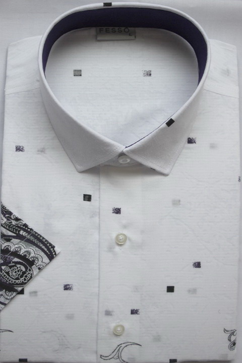 New fashion Hawaiian style printing & strips spreas collar short sleeve mens shirts in causal