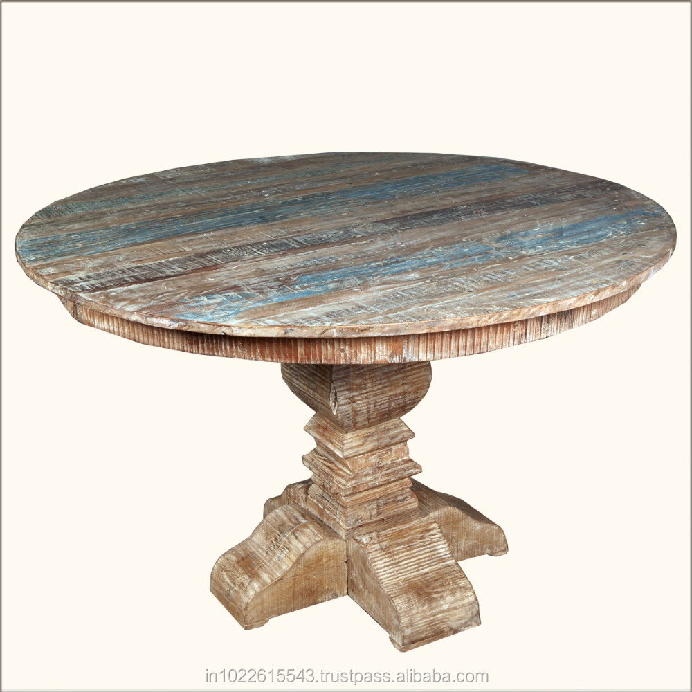 Charming Furniture Round Pedestal Coffee Table, Wood Coffee Table