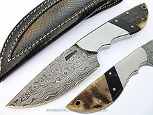 Damascus knifes - Damascus Folding Knife hand made all natural material pakistan damascus folding knife
