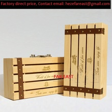 Custom new product packaging wooden wine box FAR EAST