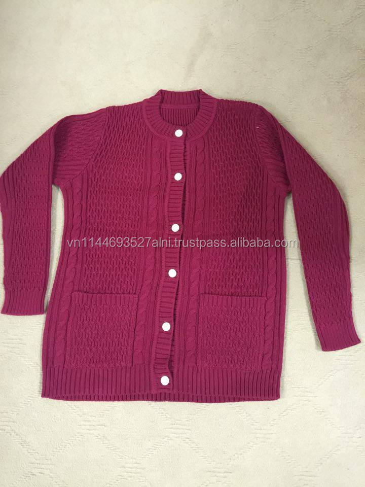 Wholesale 100% wool knitted lastest sweater design for old men, old women