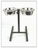 Stainless Steel Dog Bowl - Adjustable Stand