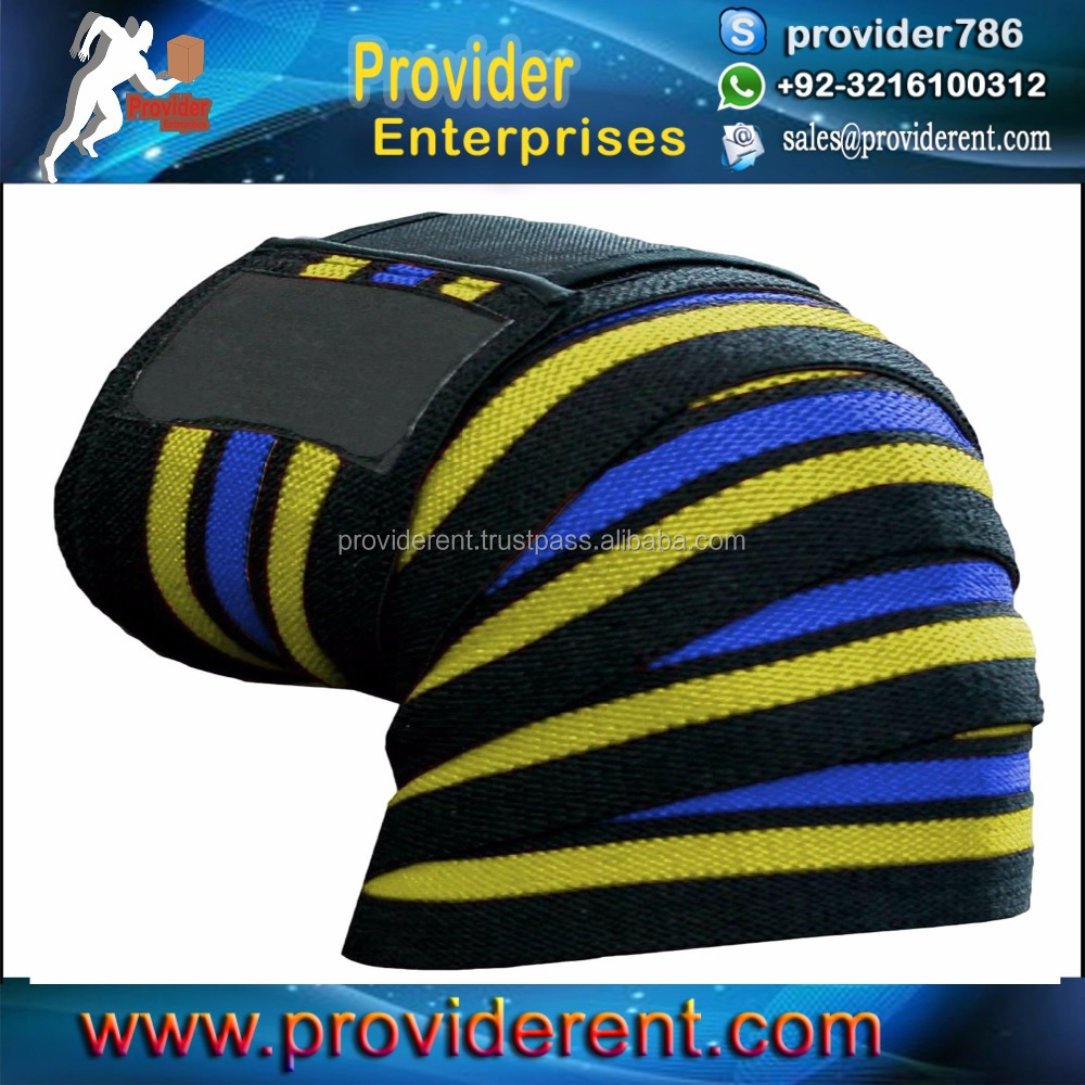 Knee Wraps with Velcro for Knee Support, for Bodybuilding, Weightlifting, Fitness, Crossfit & Powerlifting
