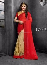 Cheapest Heavy Design Color Combinations Wedding Sarees