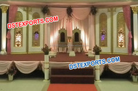 Indian Wedding Shagun Stage/ Fiber Backdrop Panels Stage/ Muslim Wedding Stage