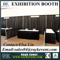 Elegant exhibition booth system panel wholesale pipe and drape used trade show booth for sale