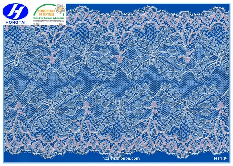 2016 african lace fabrics hongtai knitting high-end cotton nylon lace trimming guipure lace fabric
