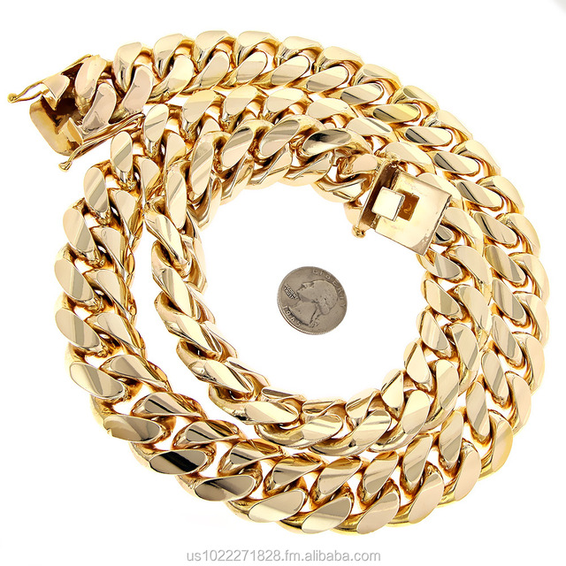 14k Gold Miami Cuban Link Chain