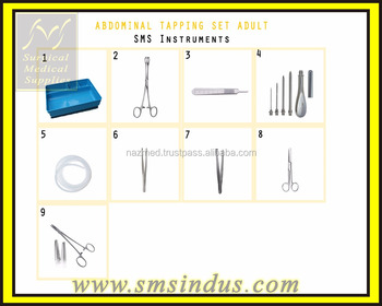 Abdominal Tapping Surgical Instruments Set
