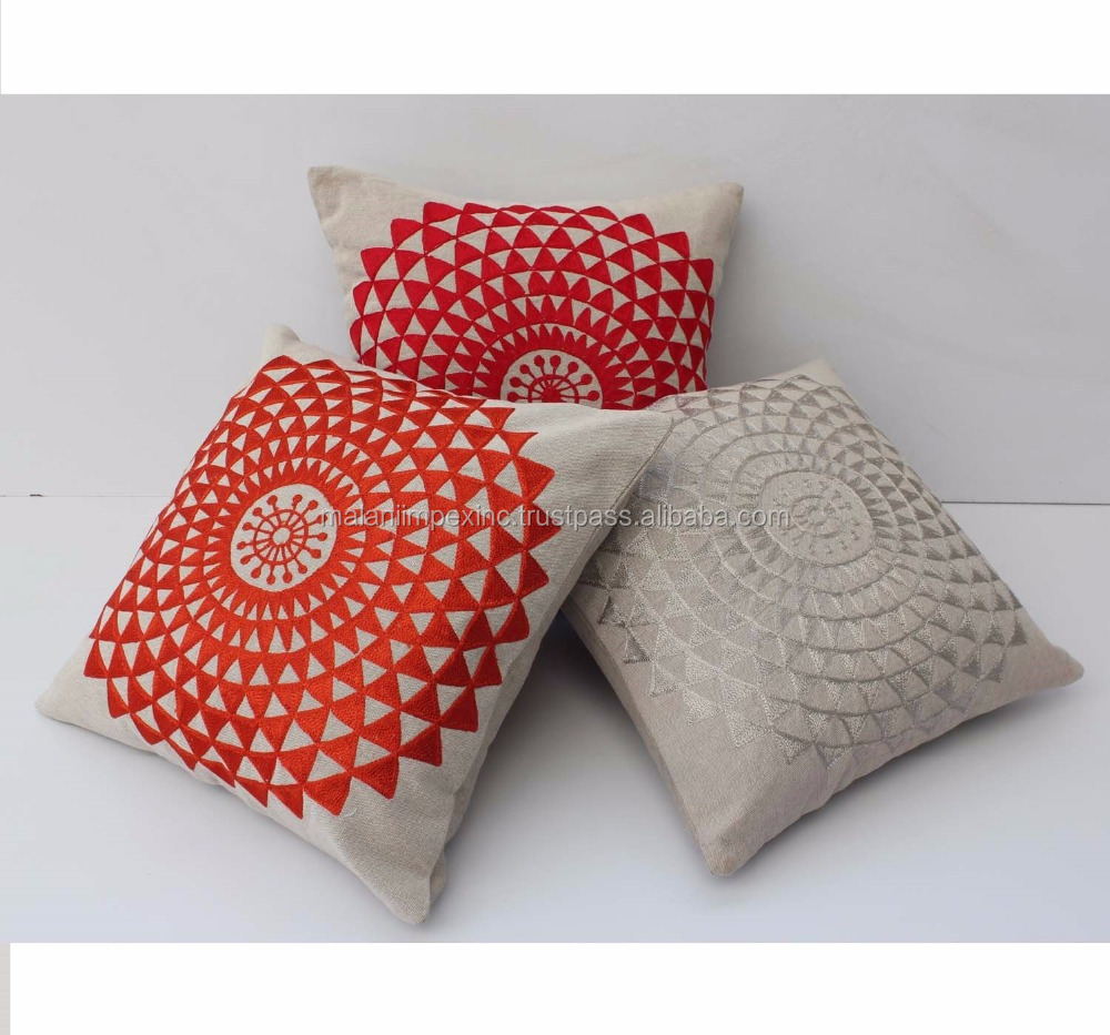Machine embroidery designs cushion cover