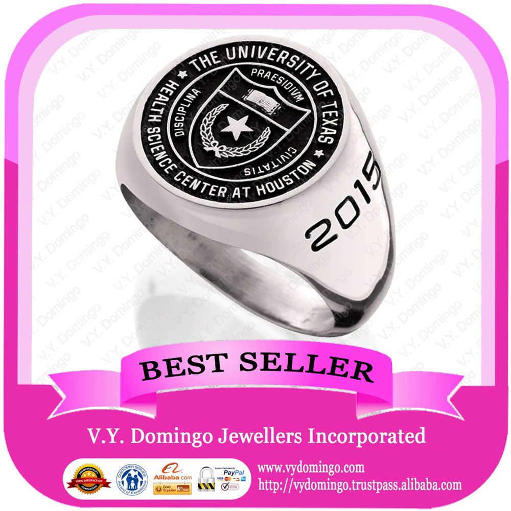 Uniqua university jewlery graduation with words class rings wholesale