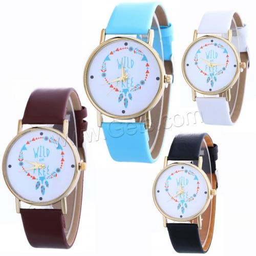 2016 Promotional leather waterproof watch women ladies vogue style watch for girl 1136601