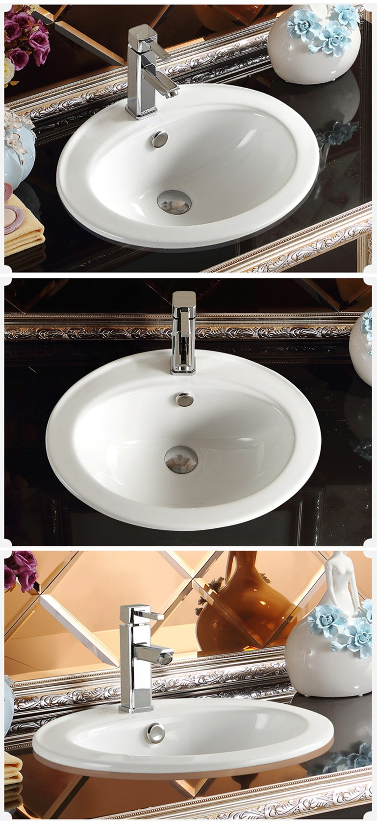 Decorated Countertop Ceramic Hand Painted Porcelain Sink