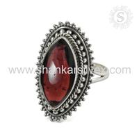 2017 Prominent Latest Gemstone Silver Jewelry Red Garnet Handmade 925 Sterling Silver Jewelry Supplier