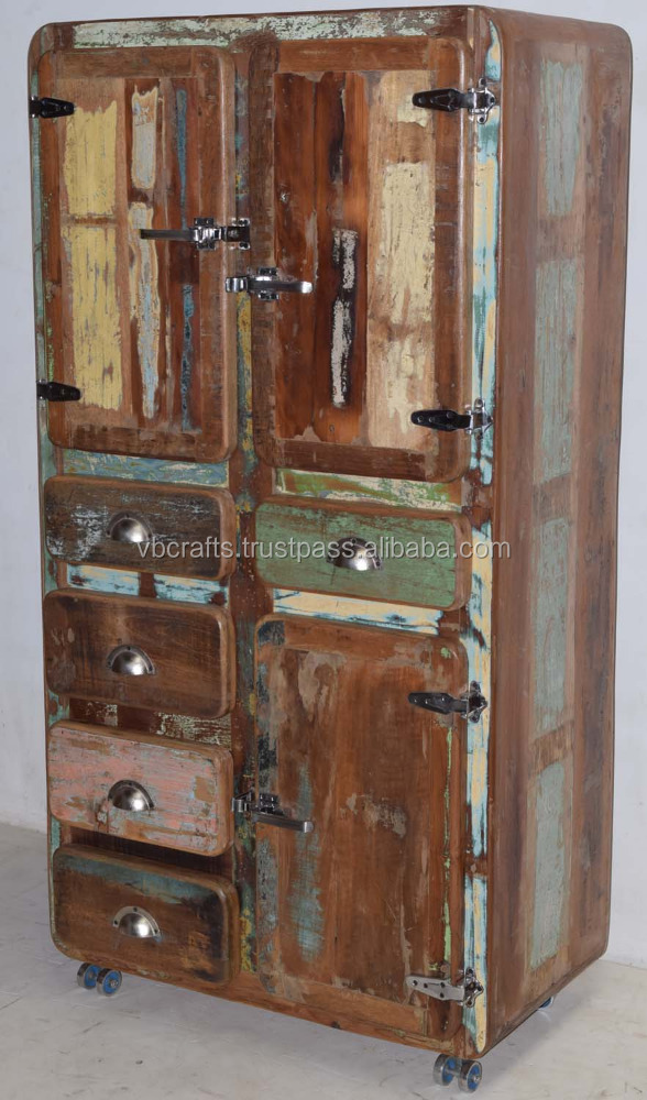 Recycled Old Timber Drwaer Cabinet Fridge Style