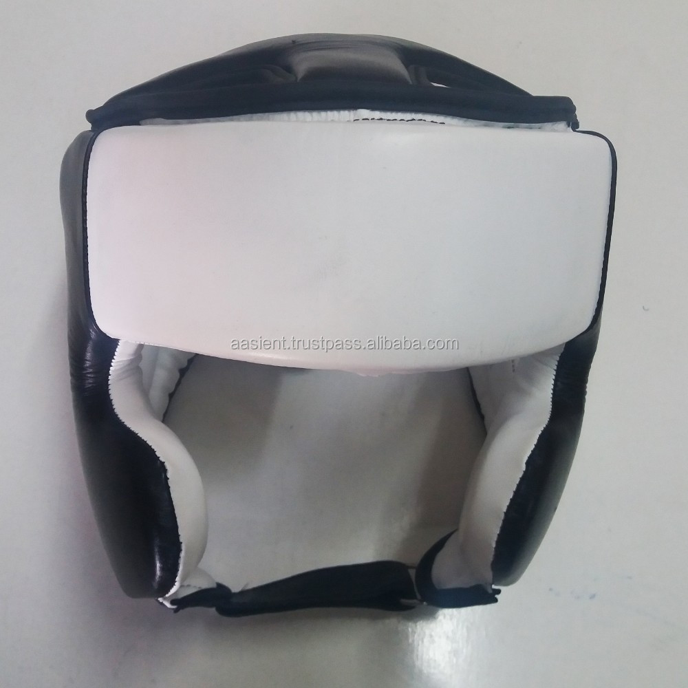 Boxing Head Guard MMA Muay Thai Helmet Protector Kickboxing Boxing Head Gear Real Leather