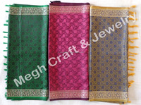Indian Ethnic Silk Stole/Shawl-Wholesale Silk Designer Handmade Scarf Girls Neck Wrap Hijab