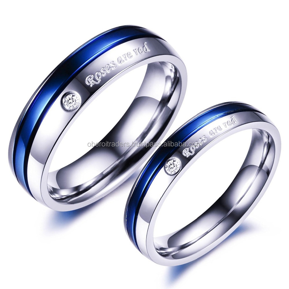Riwaz Boutique Forever Love Platinum Plated Never Fading Proposal Couple Rings for Girls and Boys