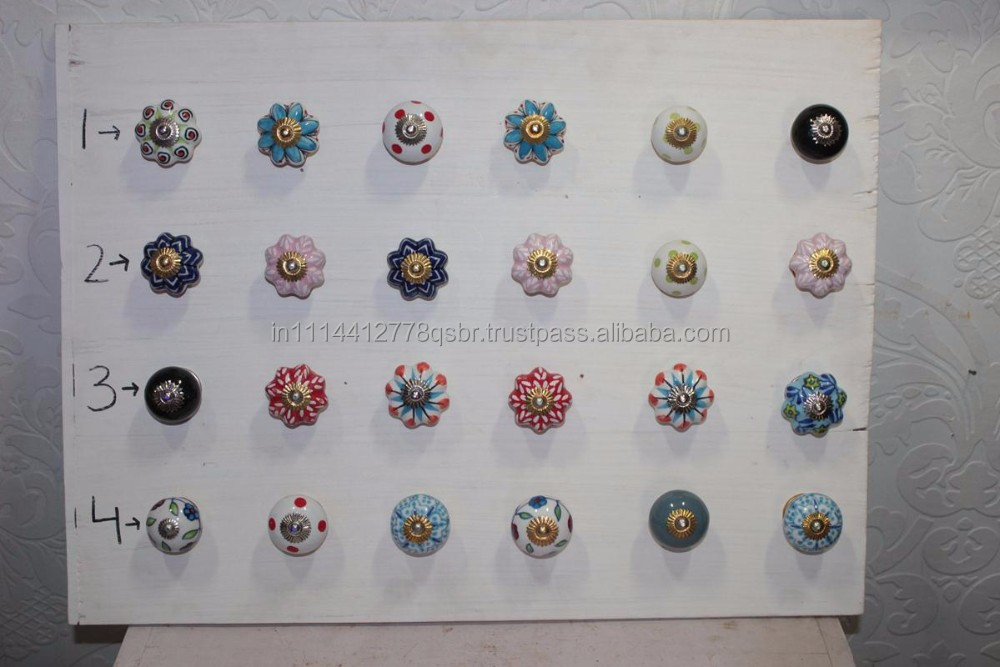 Wholesale Decorative Colorful Ceramic Porcelain Door Knob