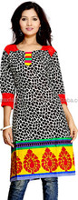 Women Ethnic Wear - Ladies Casual Cotton Angrakha Style Flared Kurti- Free Shipping