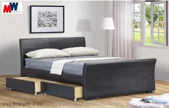 2016 LATEST DESIGN - VIVA PU BED /BED WITH 4 UD