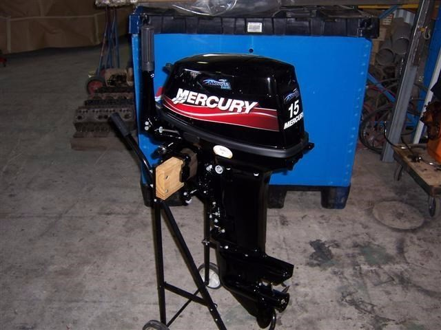 USED MERCURY 15 HP OUTBOARD MOTOR