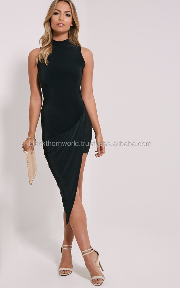 OEM Short Knitted Formal women gowns, formal evening gowns, Western Women party dress