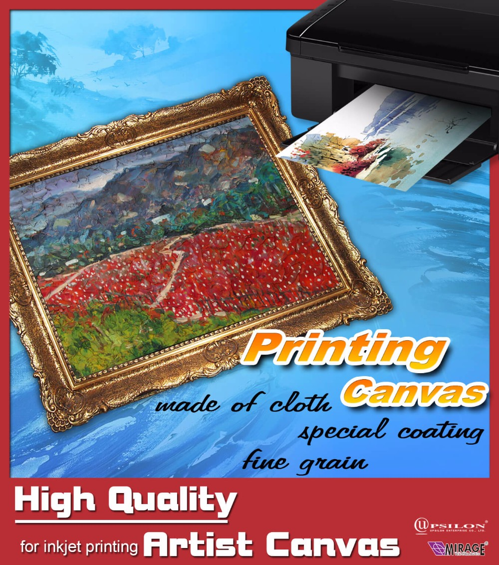 2017 High Quality and Great Color Inkjet Printing Artist Canvas