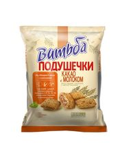Grain snack PILLOWS with cacao & milk taste 130g