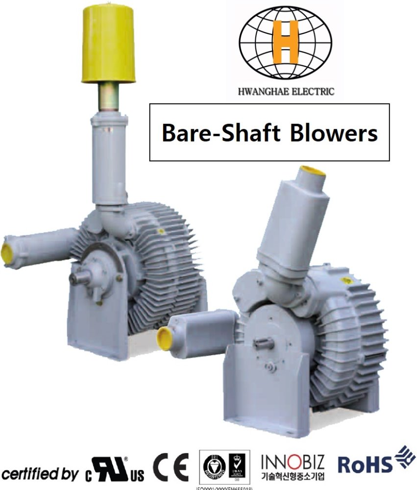 SPECIALIZED RING BLOWER(belt driven, coupling, bare shaft,acoustic,vertical )