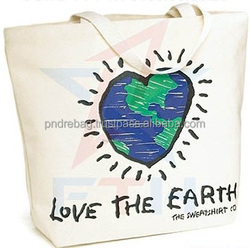 Promotional gift bag tote bag shopping bag cotton canvas bag for shopping