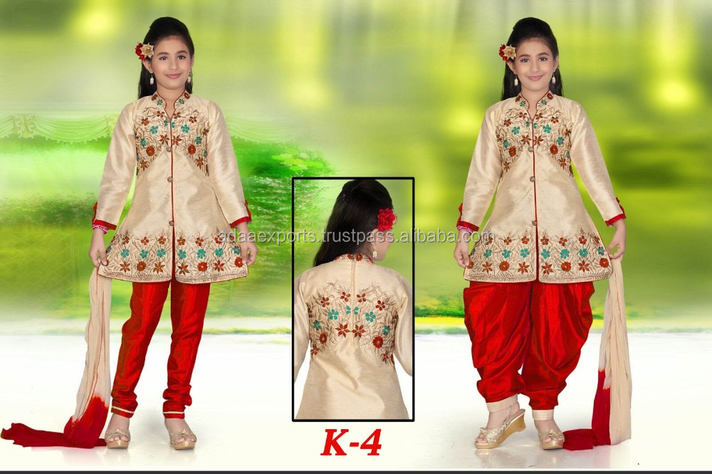 Wholesale Designer Churidar or Dhoti Style Suit For Girls