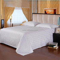 WEISDIN best selling polyester cotton 40s*40s 3cm stripe waffle bedsheet fabric