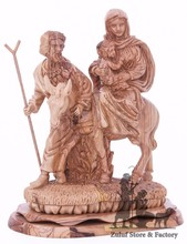 Large Flight to Egypt Nazareth Olive Wood Zuluf - ART025